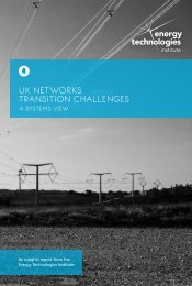 UK NETWORKs TRANSITION CHALLENGES