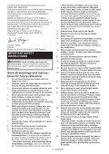 Makita Tondeuse 36 V => 2 x 18 V Li-Ion 43 cm (Machine seule) - DLM431Z - Notice - Page 7