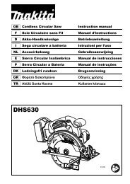Makita Scie circulaire 18 V Li-Ion Ø 165 mm (Machine seule) - DHS630Z - Notice