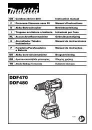 Makita Perceuse visseuse 18 V Li-ion 4 Ah Ø 13 mm (3 batteries) - DDF480RM3J - Notice