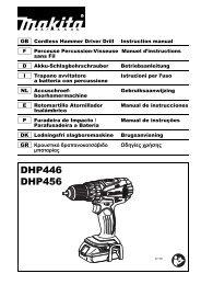 Makita Perceuse visseuse à percussion 18 V Li-Ion Ø 13 mm (Machine seule) - DHP456Z - Notice