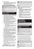 Makita Visseuse à chocs 18 V Li-Ion 3 Ah 170 Nm - DTD153RFJ - Notice - Page 5