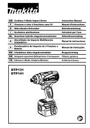 Makita Perceuse visseuse 4 fonctions 18 V Li-Ion (Machine seule) - DTP141Z - Notice