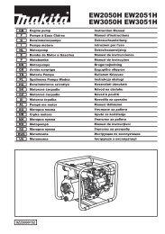 Makita Pompe à eau 4 temps 169 cm³ - EW2050H - Notice
