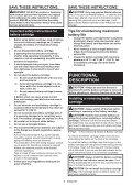 Makita Découpeur-ponceur multifonctions 10,8 V Li-ion 2 Ah ( kit d'accessoires) - TM30DSAEX1 - Notice - Page 6