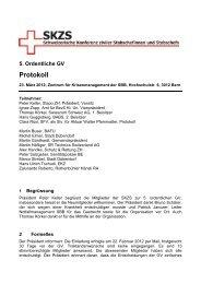 5. Ordentliche GV Protokoll