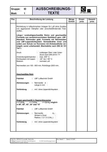 AUSSCHREIBUNGS- TEXTE - LBF-IT
