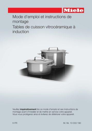 Miele KM 6312 - Mode d'emploi et instructions de montage
