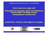 """Wirksamkeit des Programms """"KISS"""" - Fachverband Sucht eV"""