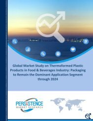 Thermoformed Plastic Products Market Food and Beverages
