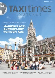 Taxi Times München - März 2015