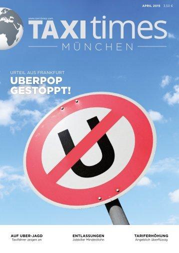 Taxi Times München - April 2015