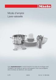 Miele Lave vaisselle encastrable 60 cm Miele G6730SCI IN - notice