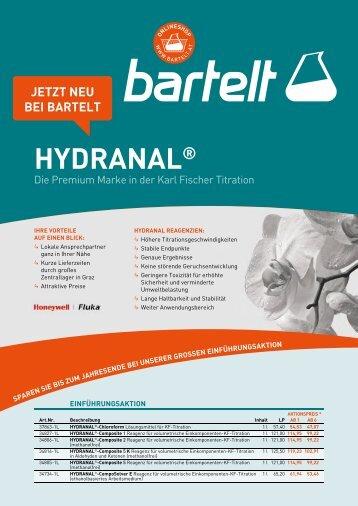 Hydranal - Honeywell Einführungsaktion