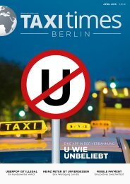 Taxi Times Berlin - April 2015