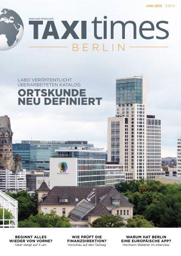 Taxi Times Berlin - Juni 2015
