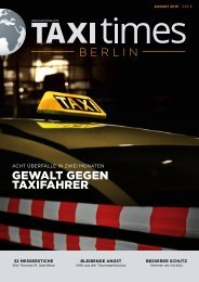 Taxi Times Berlin - August 2015