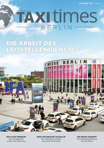 Taxi Times Berlin - Oktober 2015