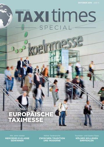 Taxi Times Special 2016 - Europäische Taximesse