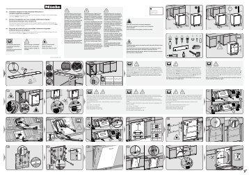 Miele G 6990 SCVi K2O - Plan de montage