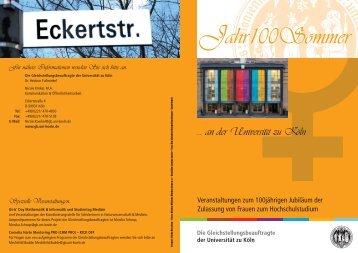 Oktober - Die Gleichstellungsbeauftragte - Universität zu Köln