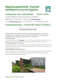 Fassadenbegrünung - Livingwalls Begrünungstechnik Courtial