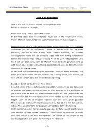 Mitschrift - Stiftung Maria Ebene