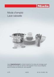 Miele Lave vaisselle encastrable 60 cm Miele G6200SCI BB - notice