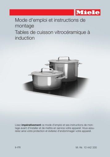 Miele KM 6639 - Mode d'emploi et instructions de montage