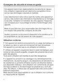 Miele FN 24062 ws - Mode d'emploi et instructions de montage - Page 4