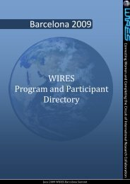 Program and Participant Directory - wires - Georgia Institute of ...