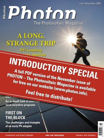 INTRODUCTORY SPECIAL INTRODUCTORY ... - PHOTON Info