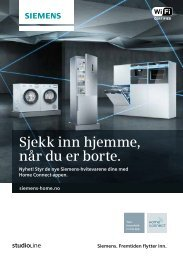 Siemens studioLine - Home Connect