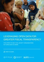Leveraging Open Data for Greater Fiscal Transparency