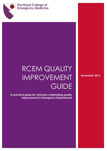 RCEM QUALITY IMPROVEMENT GUIDE