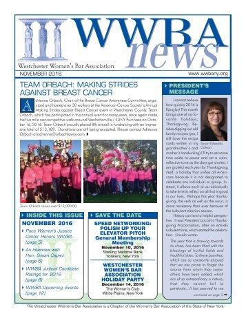 November 2016 Newsletter - M