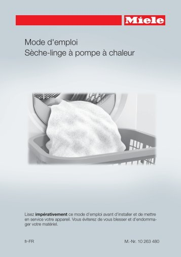 Miele TMG640 WP SFinish&Eco - Mode d'emploi