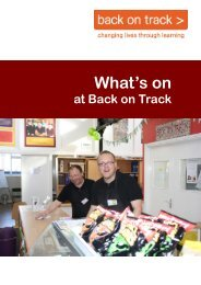 Back on Track Booklet Autumn 2016