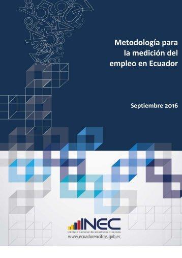 Metodología para la medición del empleo en Ecuador