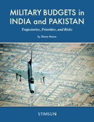 MILITARY BUDGETS in INDIA and PAKISTAN