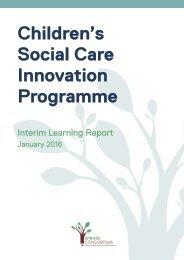 Children's Social Care Innovation Programme