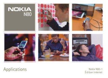 Nokia N80 Internet Edition - Nokia N80 Internet Edition mode d'emploi