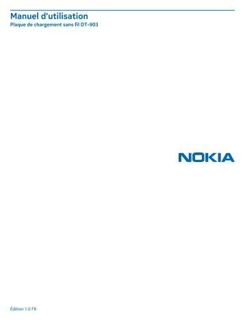 Nokia DT-903 - Manuel d'utilisation Plaque de chargement sans fil DT-903