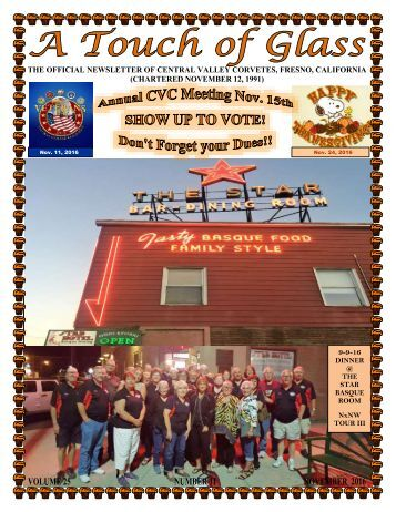 Central Valley Corvettes Magazine - November 2016