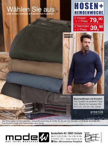 Hosen und Hemden Prospekt Herbst Winter 2016