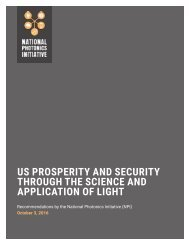 US PROSPERITY AND SECURITY THROUGH THE SCIENCE AND APPLICATION OF LIGHT