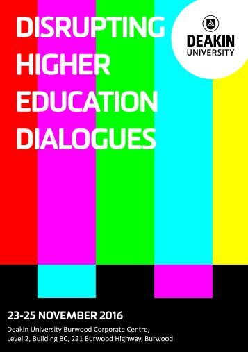 DISRUPTING HIGHER EDUCATION DIALOGUES