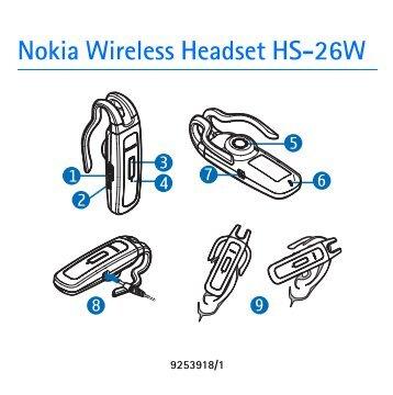 Nokia Wireless Headset HS-26W - Wireless Headset HS-26W Guide dutilisation