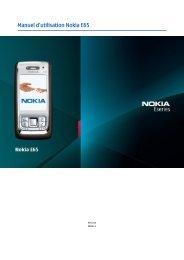 Nokia E65 - Nokia E65 Guide dutilisation