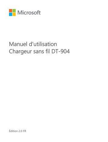 Nokia DT-904 - Manuel d'utilisation Chargeur sans fil DT-904